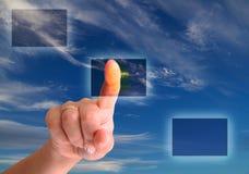 Touchscreen keus Stock Afbeelding