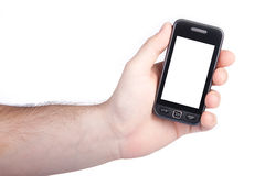 Touchscreen mobile phone Royalty Free Stock Image