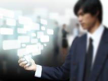 Touchscreen on mobile phone Stock Photos