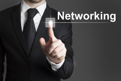 Touchscreen networking Royalty Free Stock Image