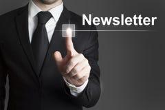 Touchscreen newsletter Stock Photos