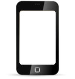 Touchscreen phone with blank screen Stock Photos