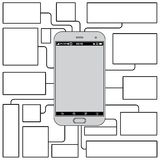 Touchscreen Phone Features. Blank Vector Template Royalty Free Stock Image