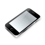 Touchscreen phone on white. Background Royalty Free Stock Photo