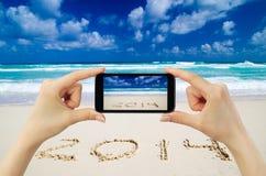 Touchscreen smart phone Royalty Free Stock Photo
