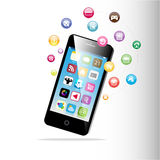 Touchscreen Smart Phone Royalty Free Stock Photography