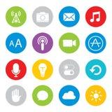 Touchscreen smart phone mobile application button icon Vector illustration Stock Photos