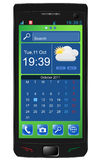 Touchscreen smartphone Royalty Free Stock Photos
