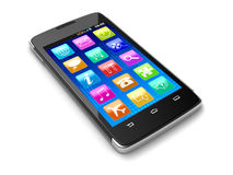 Touchscreen smartphone (clipping path included) Stock Image
