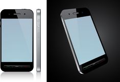 Touchscreen smartphone concept. Vector Concept communicator. No transparency effects. EPS8 Only Stock Photo
