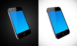 Touchscreen smartphone concept. Vector Concept communicator. No transparency effects. EPS8 Only Stock Image