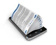 Touchscreen smartphone en bedrijfsboeken Royalty-vrije Stock Afbeeldingen