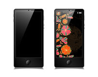 Touchscreen smartphone, vector model Royalty Free Stock Images