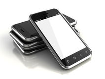 Touchscreen smartphones royalty free illustration