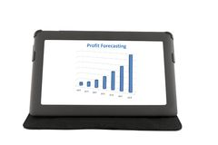 Touchscreen tablet Stock Images