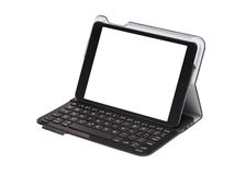 Touchscreen Tablet Inside Keyboard Case Royalty Free Stock Images