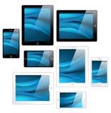 Touchscreen tabletten en mobiele telefoons - vector Royalty-vrije Stock Fotografie