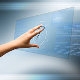Touchscreen technology Stock Images