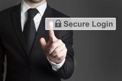 Touchscreen veilige login Stock Afbeelding