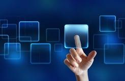 Touchscreen vertoning Stock Afbeeldingen