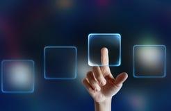 Touchscreen vertoning Stock Fotografie