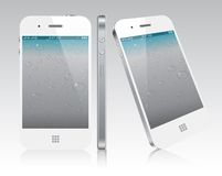 Touchscreen white smartphone concept. Royalty Free Stock Image