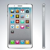 Touchscreen white smartphone concept. Vector Concept communicator. No transparency effects. EPS8 Only Stock Photos
