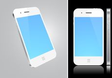 Touchscreen white smartphone concept. Royalty Free Stock Photos