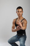 Tough asian guy Stock Images