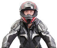 Tough biker steering Royalty Free Stock Photo