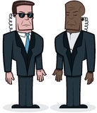 Tough Bodyguards. This is an illustration of a couple of tough looking bodyguards Royalty Free Stock Photography