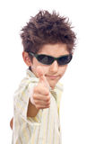 Tough boy thumbs up Royalty Free Stock Photo