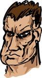 Tough brutish guy hand-drawn Royalty Free Stock Photo