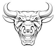 Free Tough Bull Mascot Face Stock Photos - 49209843