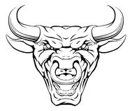 Tough Bull Mascot Face Stock Photos