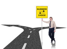 Tough business choices concept Stock Photography