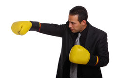 Tough Businessman sideview Royalty Free Stock Image
