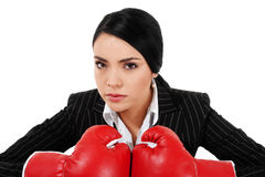 Tough Businesswoman stock photo