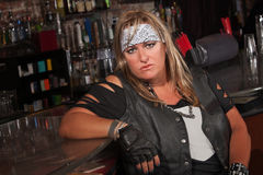 Tough Female Gang Member Royalty Free Stock Images