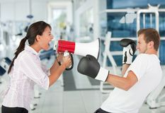 Tough female trainer Stock Images