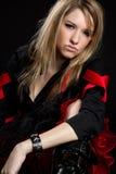Tough Girl. Tough mean punk girl posing Stock Photo