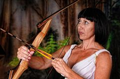 Tough Girl Archer Stock Image