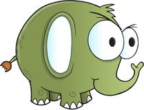 Tough Green Elephant Vector. Illustration Art Royalty Free Stock Image