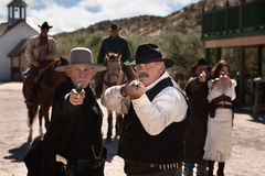 Tough Gunfighters With Weapons Royalty Free Stock Image