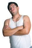 Tough Guy. Isolated young angry tough guy Royalty Free Stock Photos