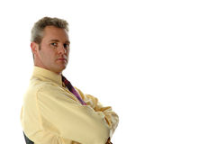 Tough guy. Serious businessman Stock Photos