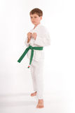 Tough Guy. 7yo green belt tough guy stock photos