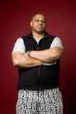 Tough guy. Intimidating looking large African American man Royalty Free Stock Image