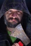 Tough guy with axe Stock Photography