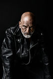 Tough guy in Leather Stock Images